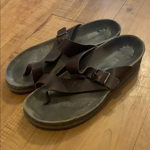 Brown leather MEPHISTO sandals Size 38 / 7
